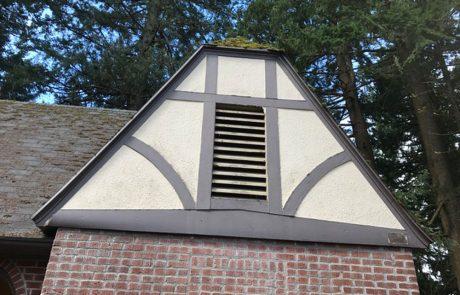 Mt. Tabor Restoration Restroom - exterior plaster